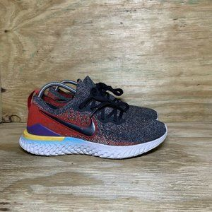Nike Epic React Flyknit 2 Running Shoes Mens Size 9.5 Black Hyper Jade Red